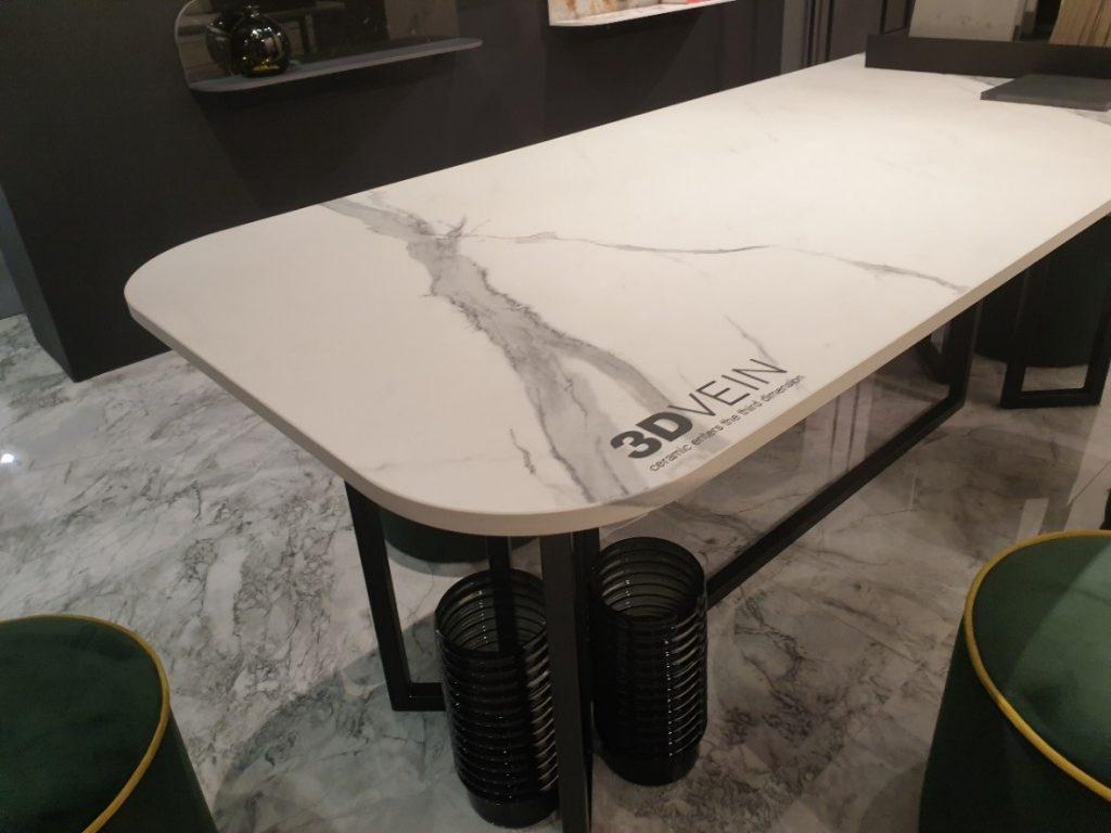 Keramische keukenwerkblad met marmeren bedrukking